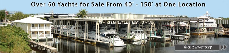 Yachts for sale at Bradford Marine Yacht Sales in Fort Lauderdale, Florida. Over 60 yachts for sale from 40 to 150 feet in one location.