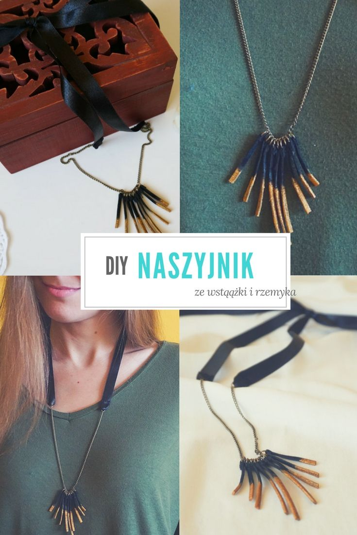 DIY Naszyjnik ze wstążki i rzemyka // DIY Necklace