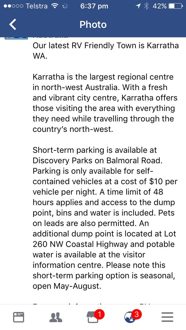 Karatha WA camp site for CMCA members 1/2