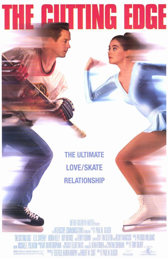 The Cutting Edge , starring D.B. Sweeney, Moira Kelly, Roy Dotrice, Terry O'Quinn. At the 1988 Winter Olympics at Calgary, we see Doug Dorsey battered in a vicious hockey game against West Germany... #Drama #Romance #Sport