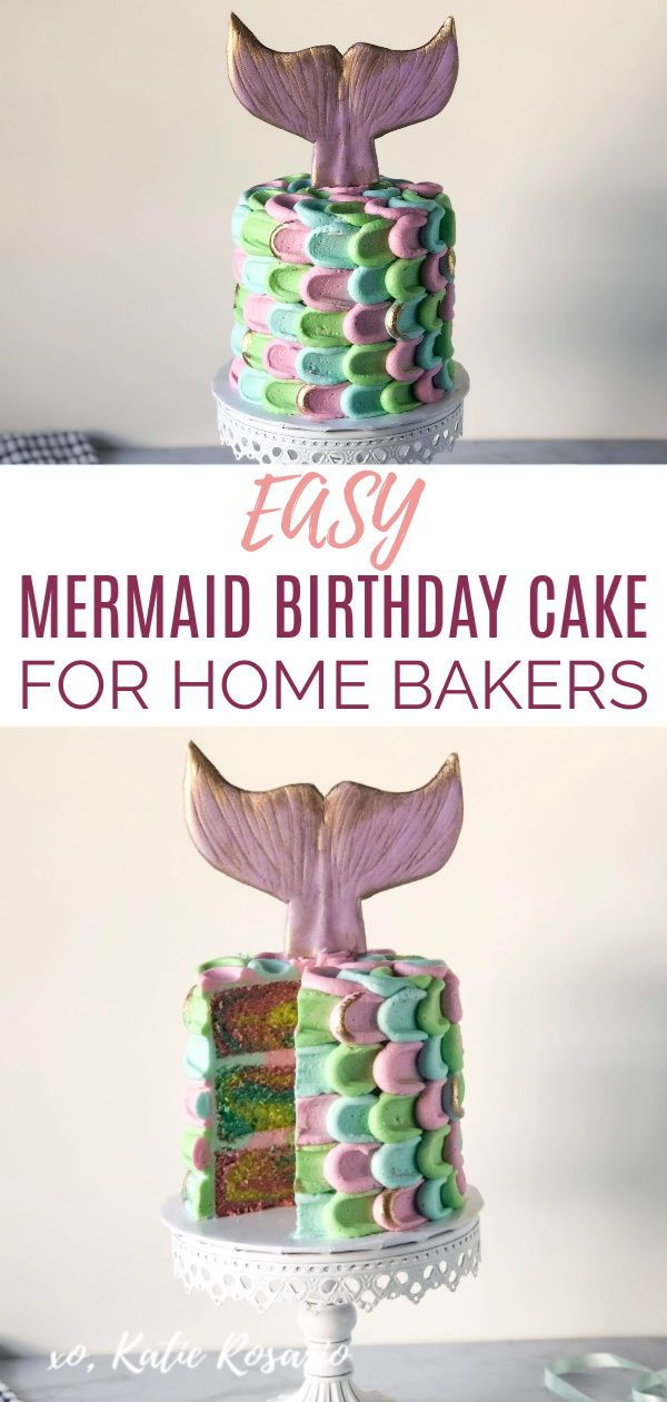 Mermaid Buttercream Cake Katie Rosario Recipe Cake Decorating Courses Mermaid Birthday Cakes Homemade Birthday Cakes
