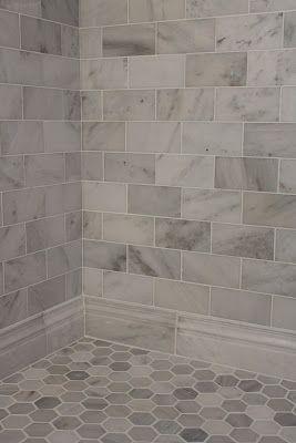 White Marble Tile Bathroom
