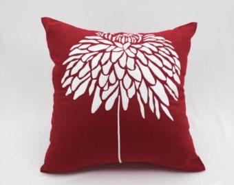 Rosa funda de almohada decorativa Floral bordado de la flor