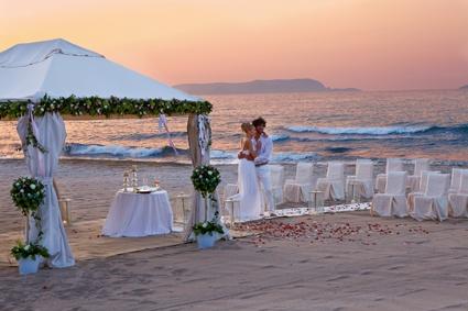 Amirandes, beach weddings in Crete