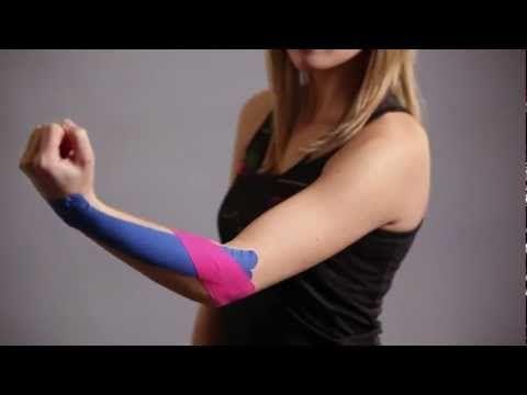 Kinesio Tape, Kinesiologie Tape bei Schmerzen im Ellenbogen Tennisarm Epicondylitis lateralis - YouTube