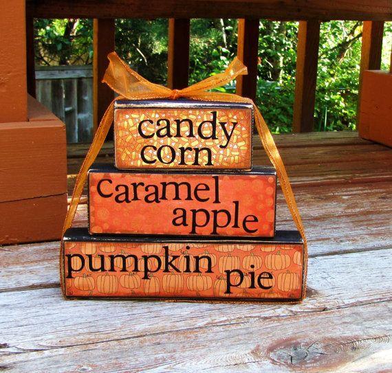 candy corn caramel apples pumpkin by happybluedragonfly on Etsy