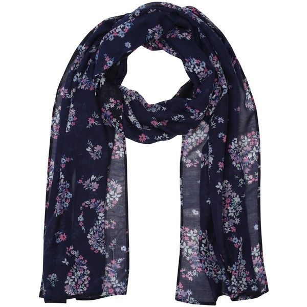 M&Co Floral Paisley Print Scarf ($17) ❤ liked on Polyvore featuring accessories, scarves, navy, paisley shawl, patterned scarves, lightweight scarves, navy scarves and print scarves