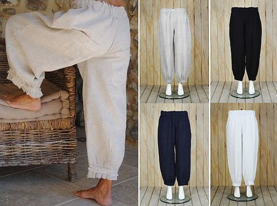 Hey, I found this really awesome Etsy listing at https://www.etsy.com/listing/423519000/lagenlook-linen-trousers-pants-quirky