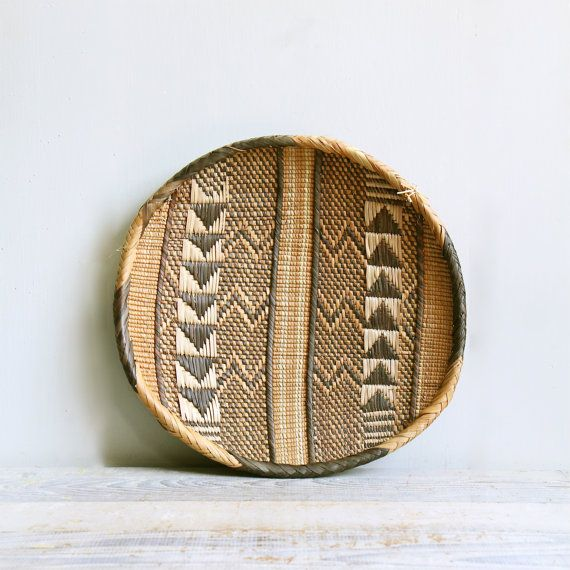 Vintage Southwestern Basket / Wall Hanging Navajo by ethanollie