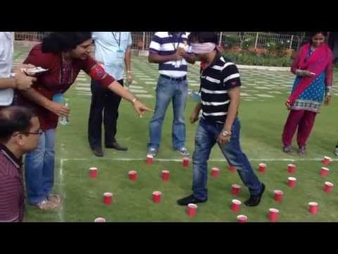 Minefield -- Duct Tape Teambuilding Game - YouTube