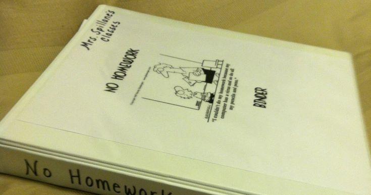 "Teaching: The ""No Homework"" Binder"