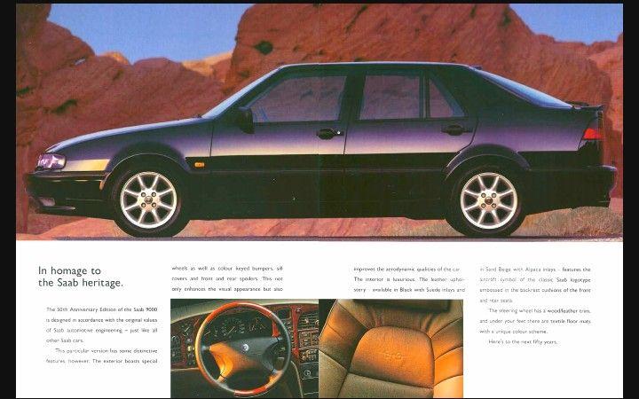 The 1997 Saab 9000 Anniversary Edition   Saab   Cars