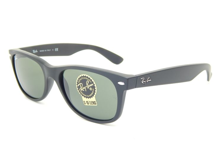 ray ban new wayfarer rb2132 sunglasses  ray ban wayfarer rb2132 622 black rubber/g 15 xlt 55mm sunglasses. ray