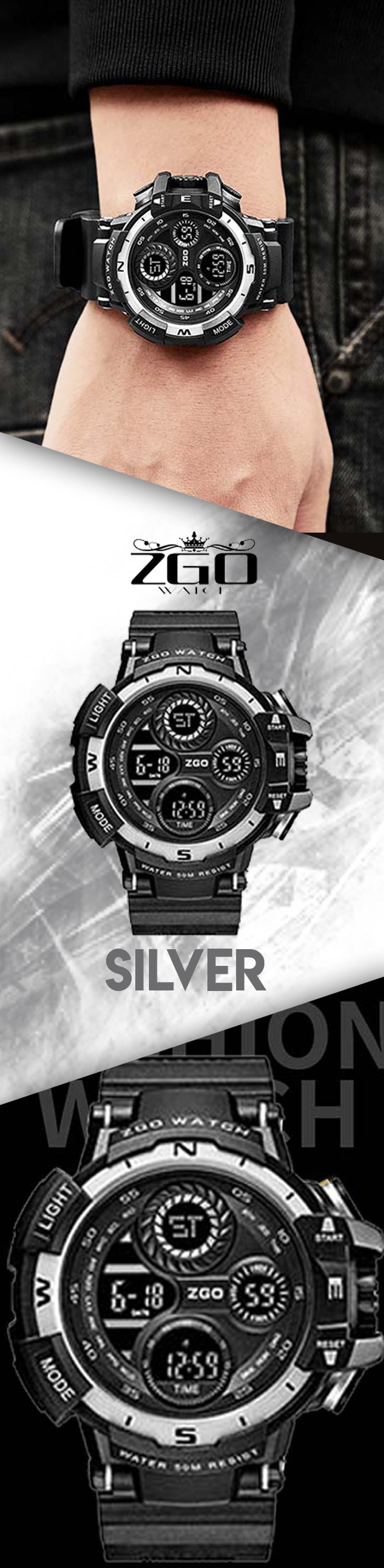 Men's outdoor sport watch - ZGO military waterproof watches - Men's top designer brand fashion style affordable accessories #watches #waterproof #menstyle #menaccessories