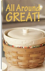 Longaberger Baskets, Pottery, wrought iron
