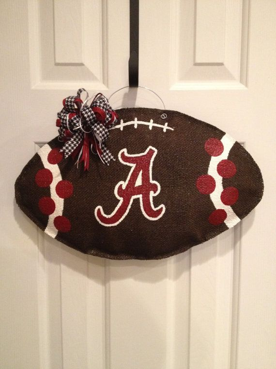 Alabama Football Burlap Door Hanger