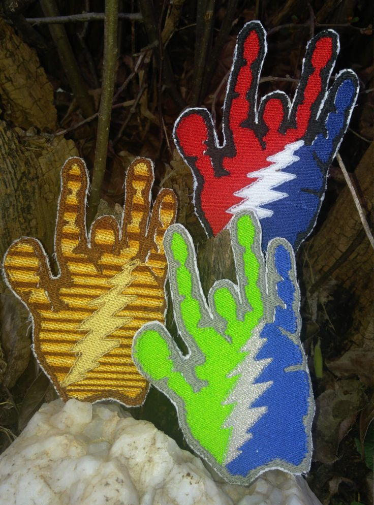 Jerry Garcia patch - Grateful Dead patch - Jerry Garcia hand patch - embroidered Jerry Garcia hand - JGB - dead and company - dead lot by Queenjaneclothing on Etsy https://www.etsy.com/listing/233806842/jerry-garcia-patch-grateful-dead-patch