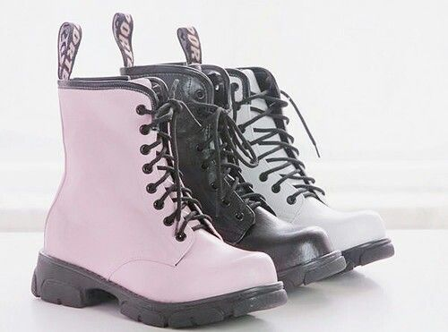 Black ,white ,and pink docs