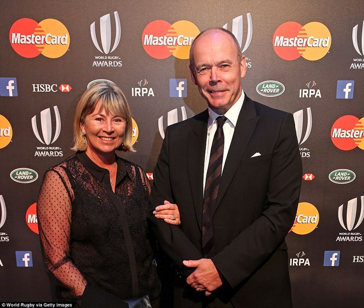 Sportsmail columnist Sir Clive Woodward and his wife Lady Jayne arrive at the function at London's Battersea Evolution