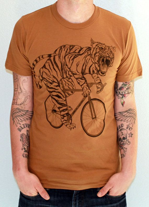 Unisex Urban TIGER T Shirt american apparel by darkcycleclothing