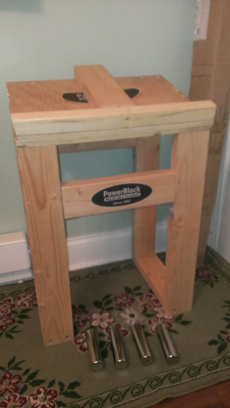 DIY Powerblock Dumbbell Stand woodworking Diy home gym