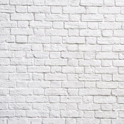 White Brick Wall For Decor By Print A Wallpaper