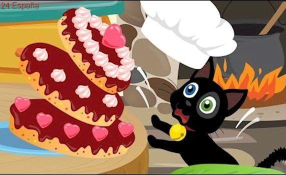 Misifu Cocina un Pastel de Chocolate 🎂 Dibujos Animados en Español