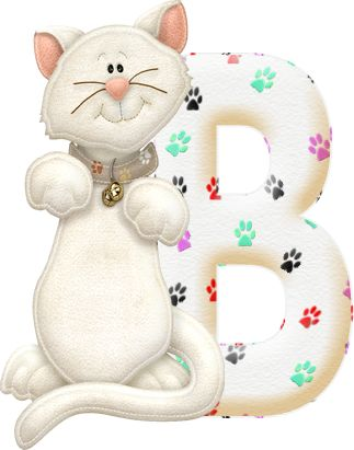 Alfabeto con gatito....B.png (323×411)
