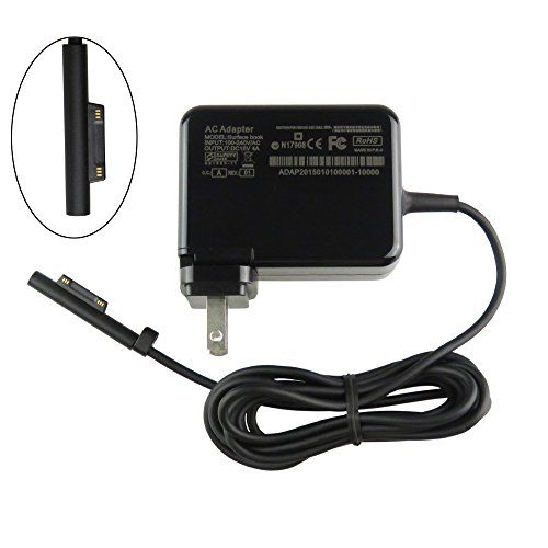 geek2016 Replacement 60W 15V 4A Charger AC Power Adapter Wall Portable travel Travel Notebook Charger for Microsoft Surface book  Surface pro 3  Surface Pro 4  Tablet Charger ** Details can be found by clicking on the image.