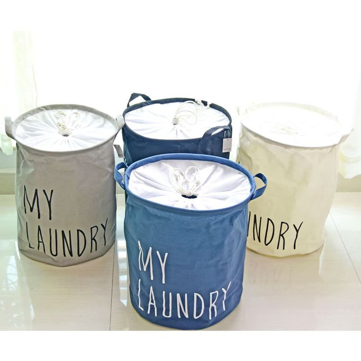 Four Color New Cotton Linen MY LAUNDRY Laundry Baskets Storage Barrels Waterproof Binding Dirty Clothes Toys Sundry Storage Bags