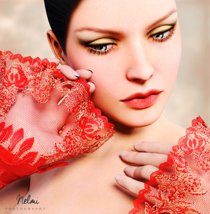 The lady in red portrait.
