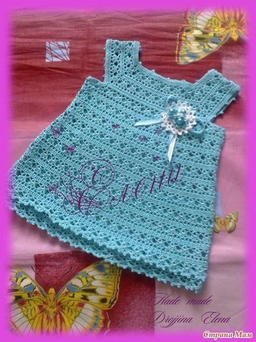 Приветик, дорогие Странамамочки! Связлось у меня между делом платье для маленькой(совсем маленькой) принцессы.  Помогли мне схемы Анюты http://www.stranamam.ru/ спасибо ей ОГРОМНОЕ!!!