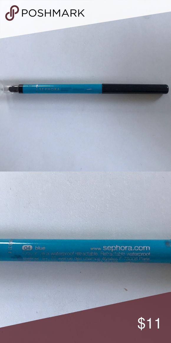 NEW Sephora Waterproof Light Blue Eyeliner -New -Sephora -Blue 04 (light blue/aq…
