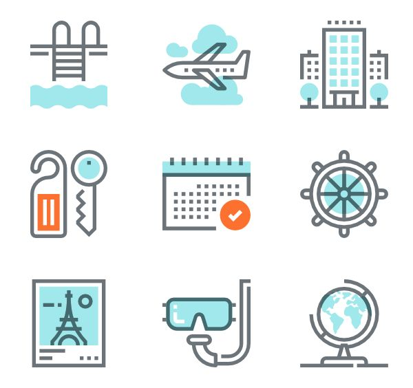 Travel Icons - 8,088 free vector icons