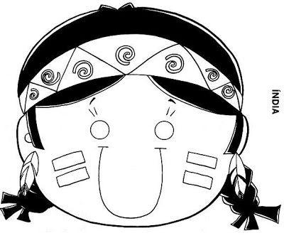 Baú da Web: Máscaras de Índio para imprimir e colorir * 1500 free paper dolls at international artist Arielle Gabriels The International Paper Doll Society also free Chinese paper dolls The China Adventures of Arielle Gabriel *