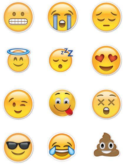 Emoji Poop Birthday Party Stickers Favor Tags Cupcake