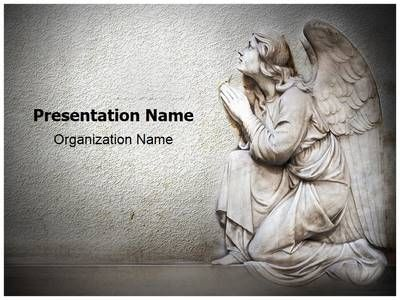 Guardian Christian Angel Powerpoint Template Is One Of The Best PowerPoint  Templates By EditableTemplates.com