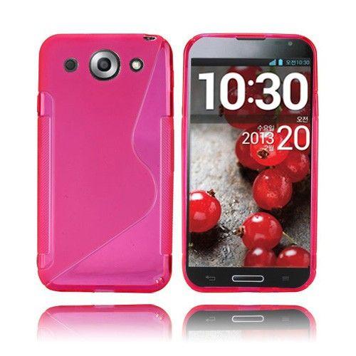 S-Line (Vaaleanpunainen) LG Optimus G Pro Suojakuori