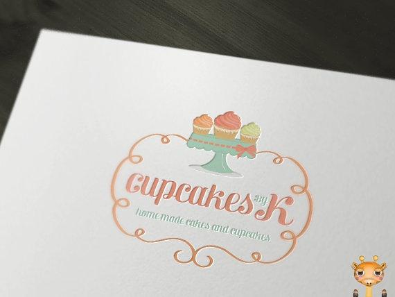 TODAY OFFER  Readymade Logos  Cupcakes and Cakes by OneGiraphe, $200.00 #logo #design #cupcake #cake