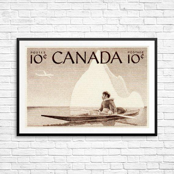 Iceberg print, iceberg art, Native Canadian, Inuit Hunter, Canadian North, Canadian Art, sepia art print, Canadian Inuit, Yukon, Nunavut
