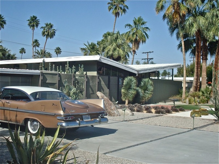 Palm springs curb appeal pinterest exterior colors for New mid century modern homes palm springs