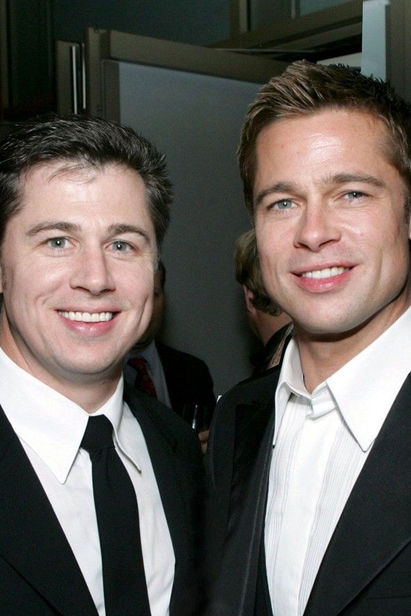 Brad Pitt's his younger brother, Doug ~ ~ ~ he reminds me of Zach Braff in this pic!