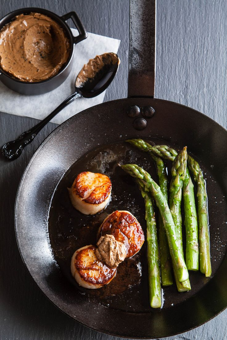 Scallops with Black Garlic Butter