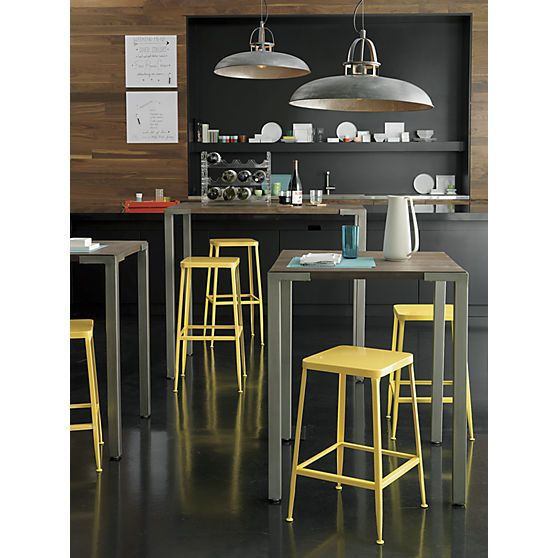 Flint Yellow Bar Stool In Dining Chairs Stools