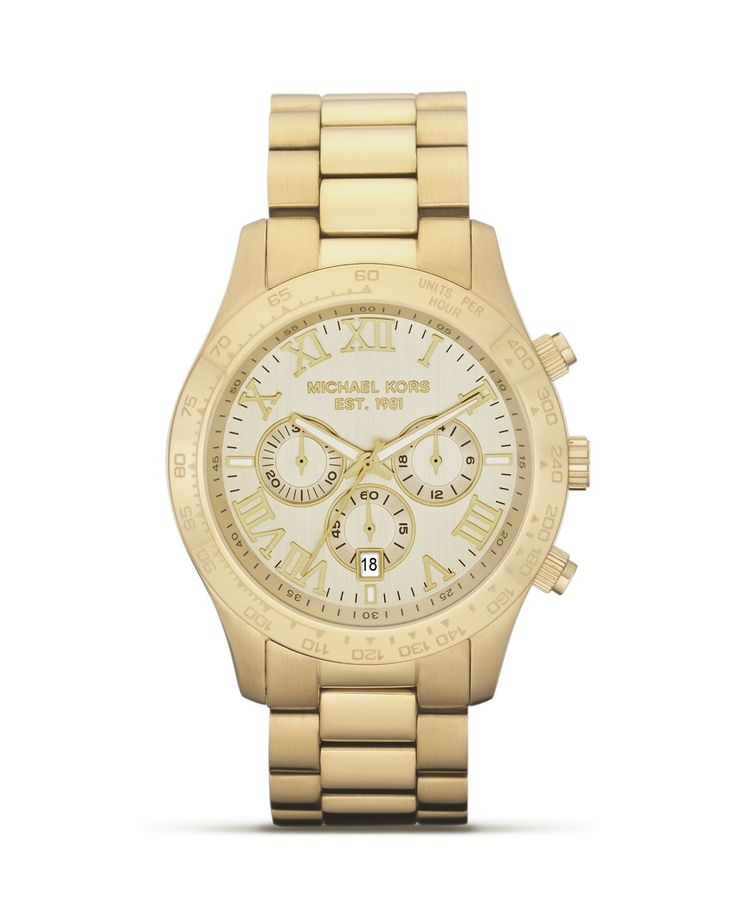 Men's Runway Gold-Tone Stainless Steel Bracelet Watch and other Michael Kors men's watches for sale online in a variety of styles.