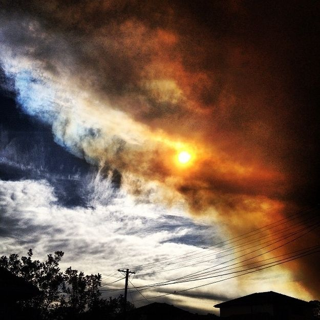 But soon things were looking trippy.   50 Surreal Images From Sydney's Bushfire Crisis