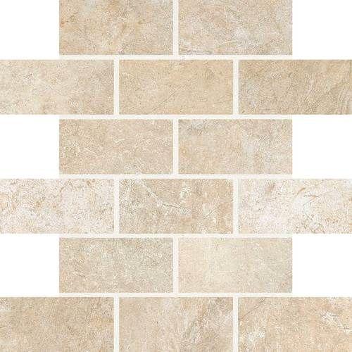 backsplash - Daltile - Valtellina - glazed porcelain - province cream brick- joint mosaic VA07