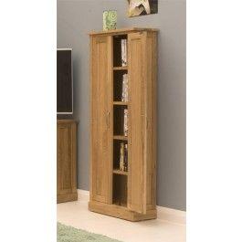 Mobel Oak Solid Oak DVD Storage Cupboard