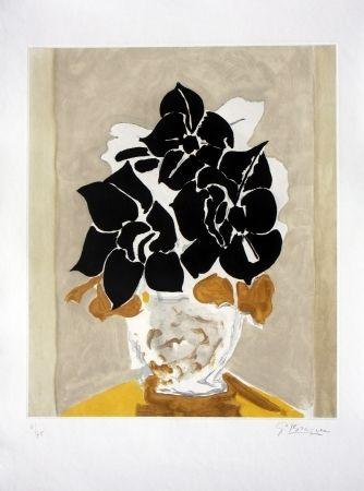 Gravure - Georges Braque - Les Amaryllis 1958.