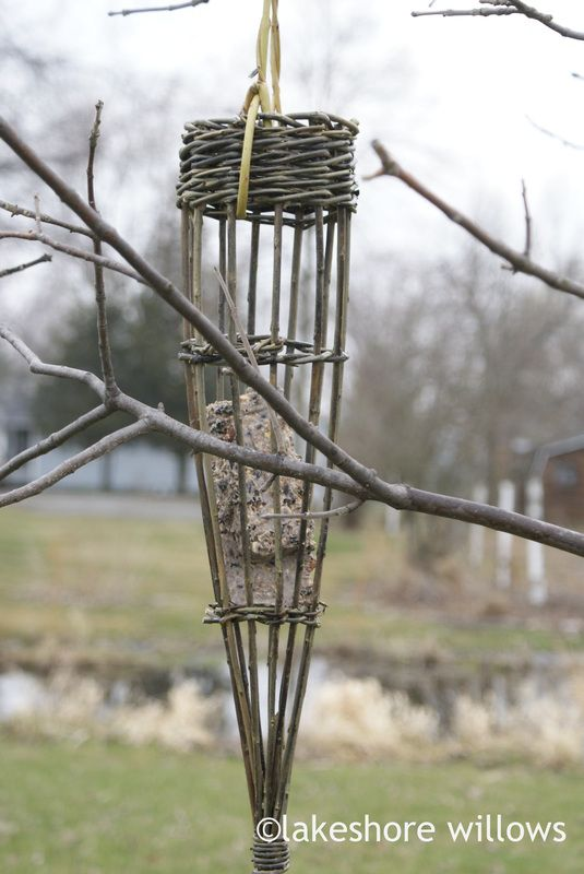 Basketry - lakeshore willows...What a great idea for a suet feeder! The one I'm going to make won't look like this;but it will work!!